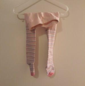 Baby Girl Striped Leggings, Size 18-36 mths